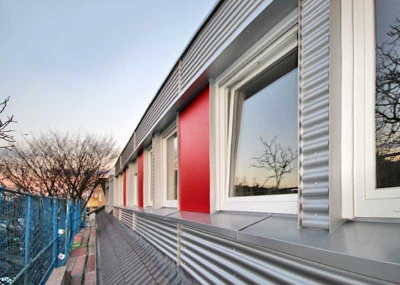 Foto des fertigen Hauses, erstellt von Korb-Architekten
